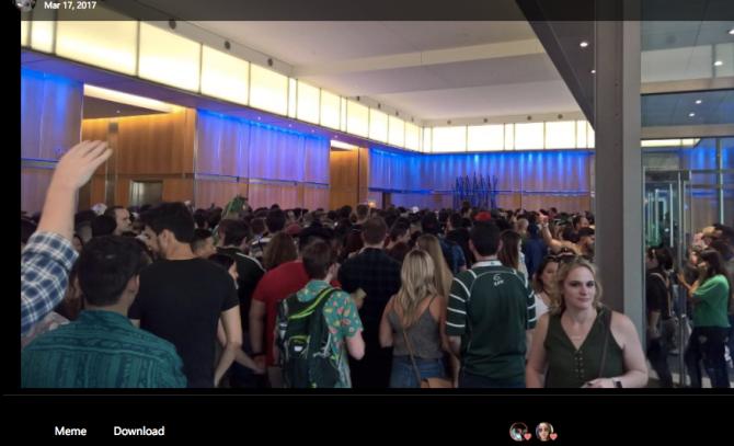 Mob at Facebook Party