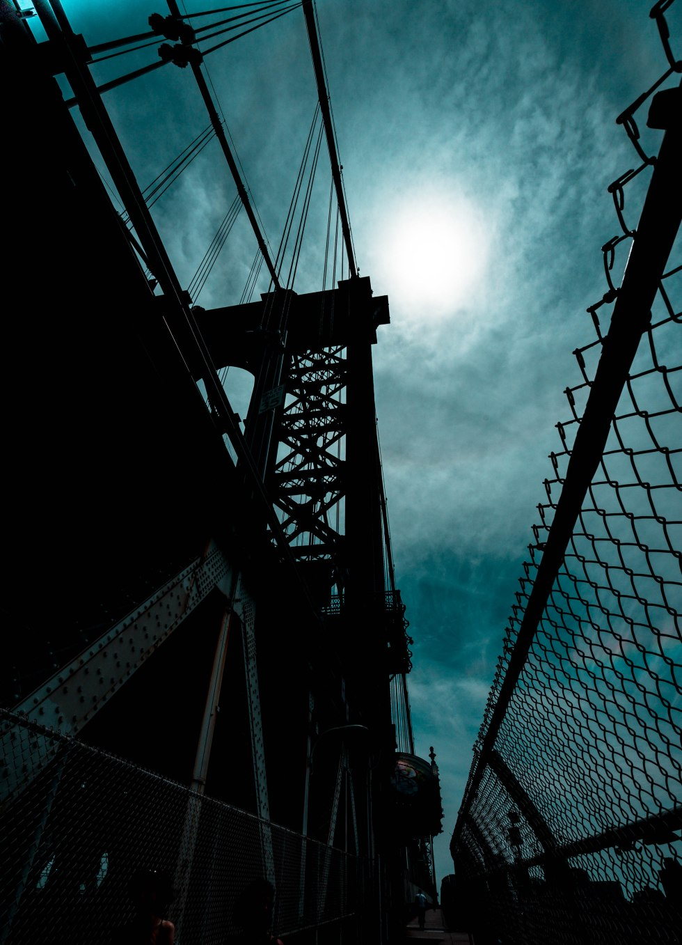 Shadows of Manhattan Bridge